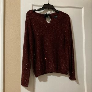 Sparkly Maroon Sweater